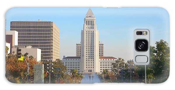 Galaxy Case featuring the photograph Los Angeles City Hall by Ram Vasudev
