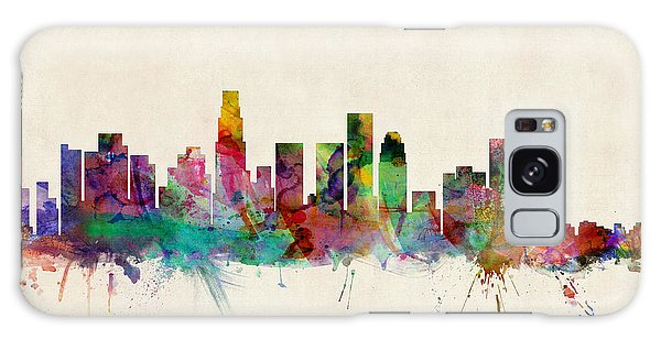 Poster Galaxy Case - Los Angeles City Skyline by Michael Tompsett