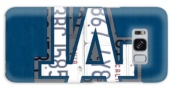 Recycle Galaxy Case - Los Angeles Dodgers Baseball Vintage Logo License Plate Art by Design Turnpike