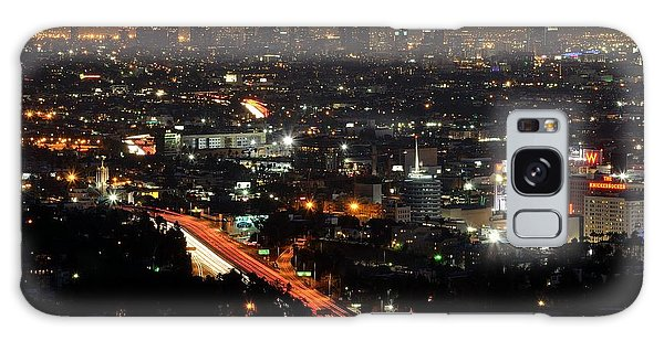 Los Angeles Lights Galaxy Case by Paul Noble