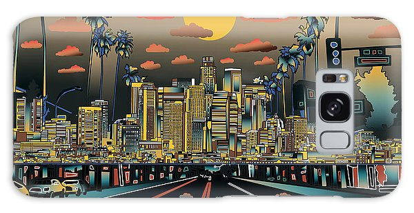 Los Angeles Skyline Abstract 2 Galaxy Case
