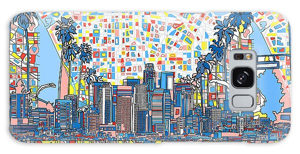 Los Angeles Skyline Abstract 3 Galaxy Case