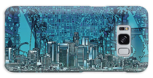 Los Angeles Skyline Abstract 5 Galaxy Case