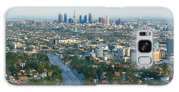Galaxy Case featuring the photograph Los Angeles Skyline And Los Angeles Basin Panorama by Ram Vasudev