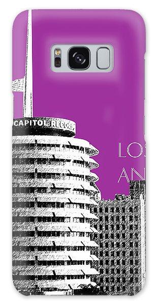 Los Angeles Skyline Capitol Records - Plum Galaxy Case by DB Artist