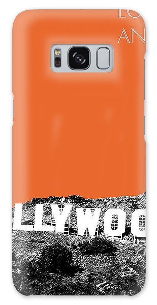 Los Angeles Skyline Hollywood - Coral Galaxy Case by DB Artist