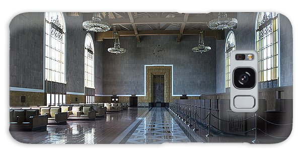 Galaxy Case featuring the photograph Los Angeles Union Station Original Ticket Lobby by Belinda Greb