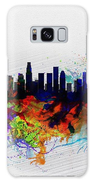 Los Angeles  Watercolor Skyline 2 Galaxy Case