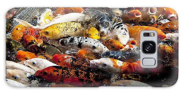 Lots Of Hungry Koi  Galaxy Case by Wilma  Birdwell