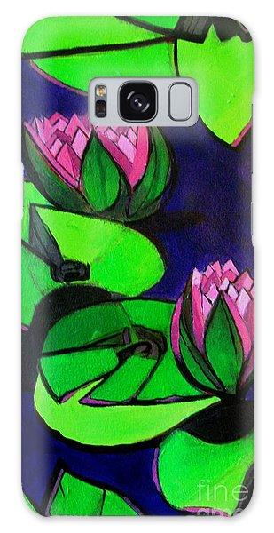 Lotus 2 Botanical Flowers Galaxy Case