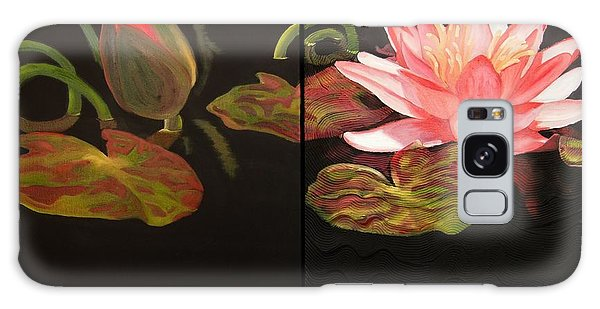 Lotus Bud To Bloom Galaxy Case by Janet McDonald