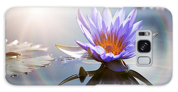Lotus Flower With Sun Flare Galaxy Case