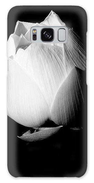 Lotus In Black And White Galaxy Case