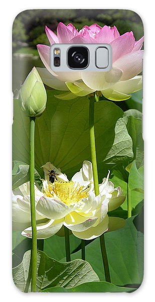 Lotus In Bloom Galaxy Case by John Lautermilch