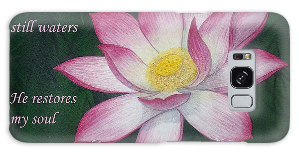 Lotus Lily Psalm Twenty Three Galaxy Case