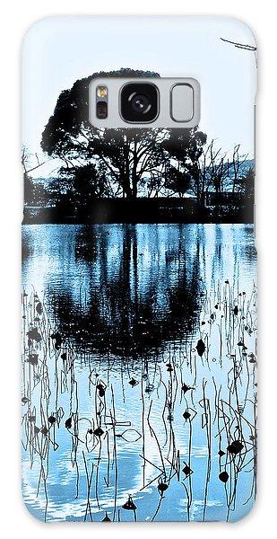 Lotus Pond Winter - 4 Galaxy Case