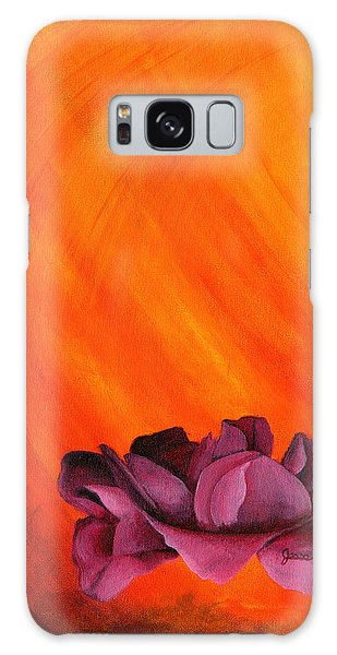 Lotus Rose Galaxy Case