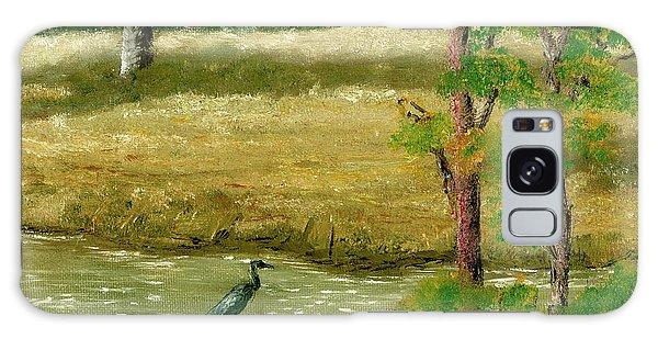 Louisiana Pond With Heron Galaxy Case