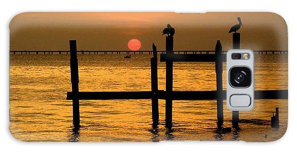Louisiana Sunset  Galaxy Case by Kathy Bassett
