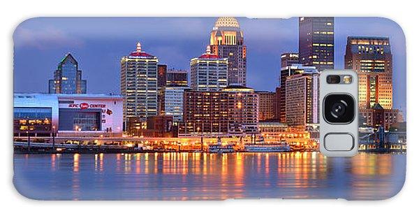 Louisville Skyline At Dusk Sunset Panorama Kentucky Galaxy Case
