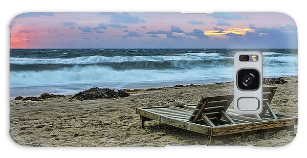 Loungers On The Beach Galaxy Case by Don Durfee