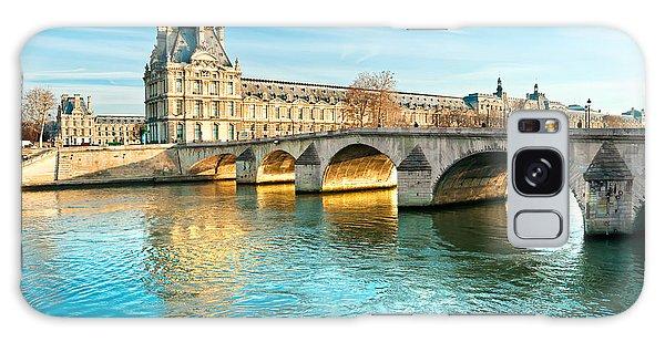 Louvre Museum And Pont Royal - Paris  Galaxy Case