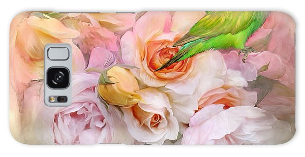 Galaxy Case featuring the mixed media Love Among The Roses by Carol Cavalaris