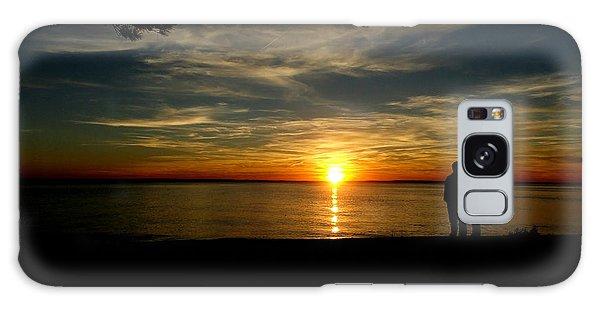 Love At Sunset Galaxy Case