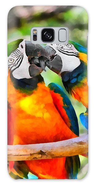 Love Bites - Parrots In Silver Springs Galaxy Case