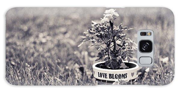 Love Blooms Galaxy Case by Sara Frank