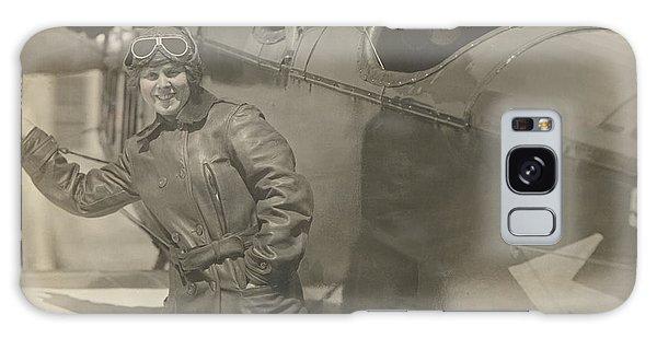 Love Field Woman Aviator Galaxy Case