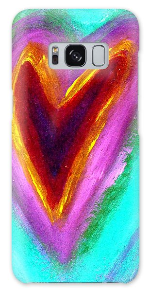 Love From The Heart Galaxy Case