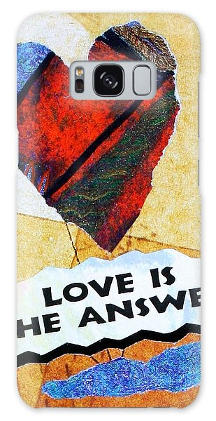 Love Is The Answer Collage Galaxy Case