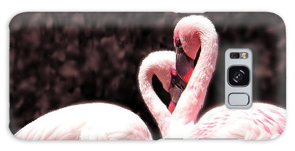 Love Of The Flamingos Galaxy Case by Gena Weiser
