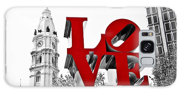 Love Park And City Hall Bw Galaxy Case