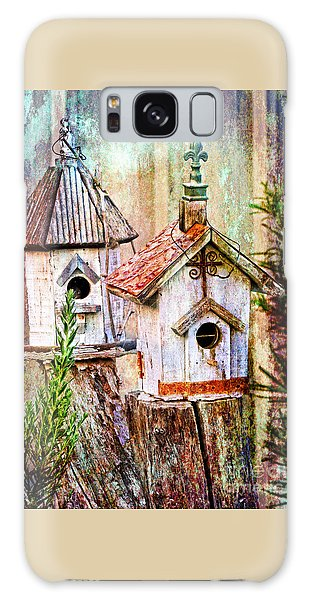 Love Thy Neighbor - Birdhouses Galaxy Case