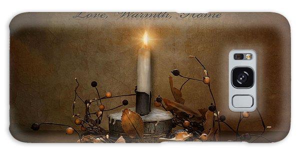 Love Warmth Home Galaxy Case by Robin-Lee Vieira