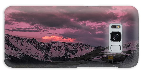 Loveland Pass Sunset Galaxy Case