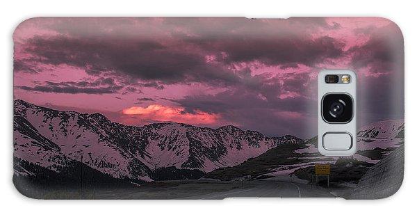Loveland Pass Sunset Galaxy Case by Michael J Bauer