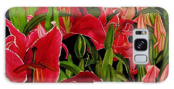 Lovely Lillies Galaxy Case by Debi Singer