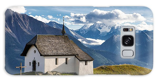 Lovely Little Chapel In The Swiss Alps Galaxy Case