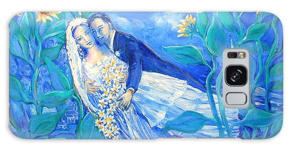 Lovers And Sunflowers  After Marc Chagall  Galaxy Case