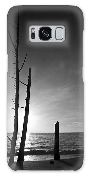 Lovers Key Sunset Black And White One Galaxy Case