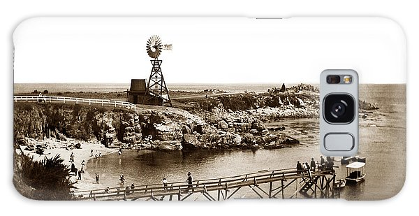 Lovers Point Beach And Old Wooden Pier Pacific Grove August 18 1900 Galaxy Case