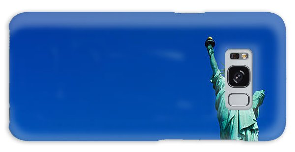 Low Angle View Of Statue Of Liberty Galaxy Case by Panoramic Images