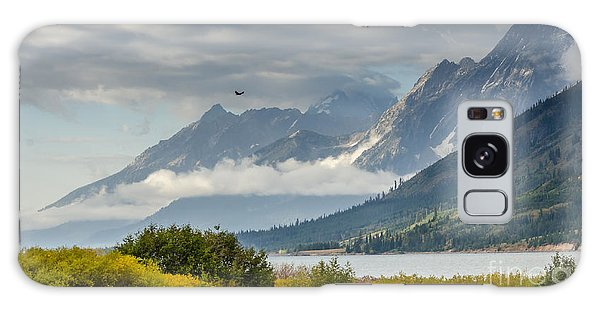 Low Clouds On The Teton Mountains Galaxy Case