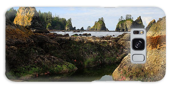 Olympic National Park Galaxy Case - Low Tide At The Arches by Inge Johnsson