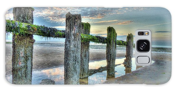 Low Tide Groynes Galaxy Case
