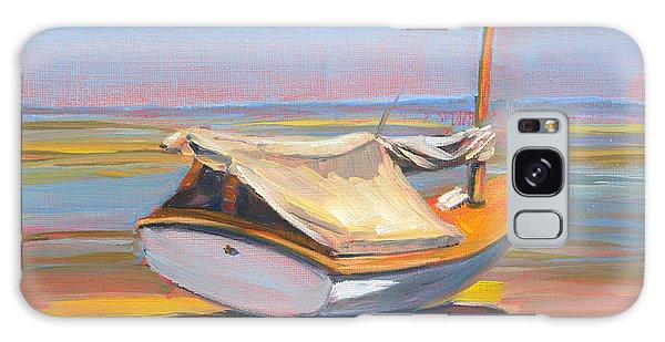 Low Tide Sailboat Galaxy Case by Trina Teele