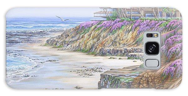 Low Tide Solana Beach Galaxy Case by Jane Girardot